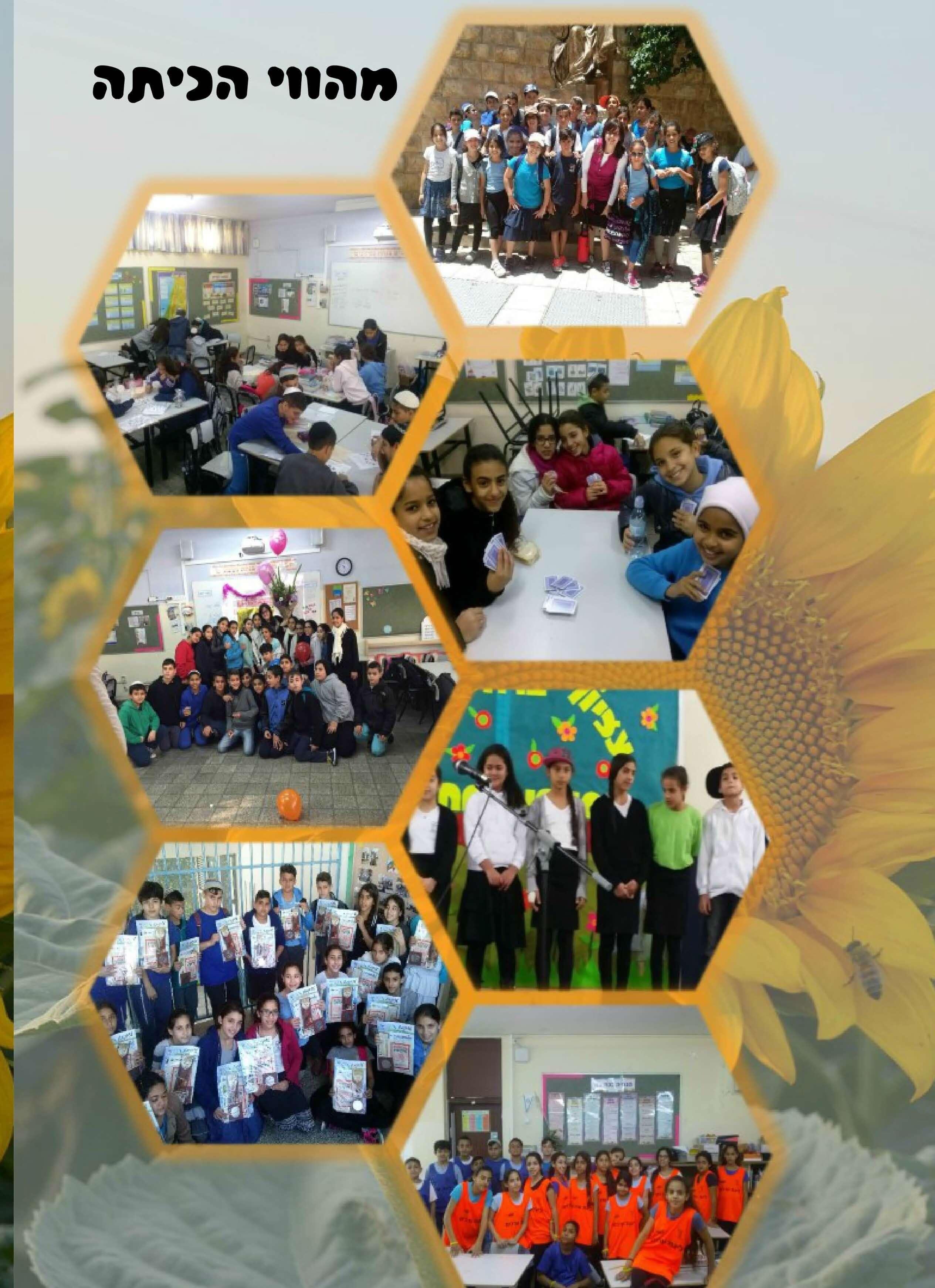 קולאג תמונות הווי בית ספר